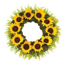 Sunflower Wreath.