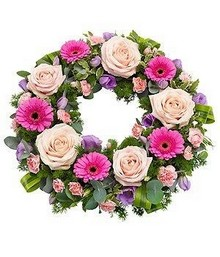 Pink Rose Wreath.