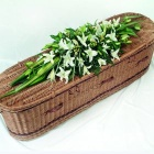 Oriental White Lily Casket Spray