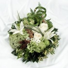 Textured Green & White Posy